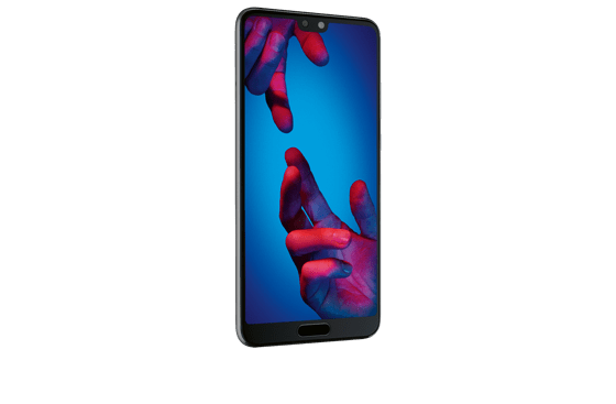 Das riesige Display nimmt beim Huawei P20 fast die gesamte Frontseite ein.