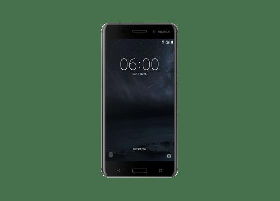 Die Selfie-Kamera auf der Vorderseite des Nokia 6 nimmt Bilder mit hoher Qualität auf.
