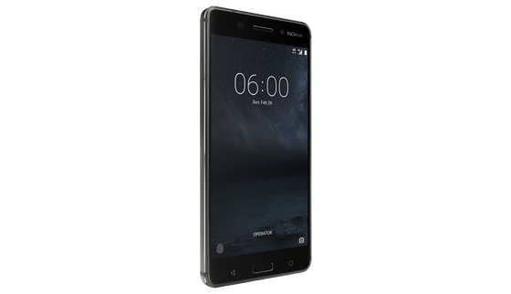 Das Nokia 6 besticht durch ein modernes Design mit eleganten Linien.