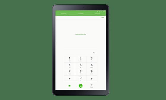 Auch Telefonate sind mit dem Samsung Galaxy Tab A 10.5 LTE möglich.