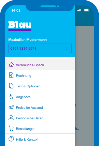 Blau Services per App nutzen