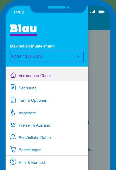 Mein Blau App: Alle Services mobil nutzen