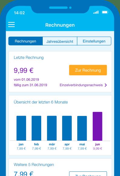Mein Blau App: Rechnungen einsehen