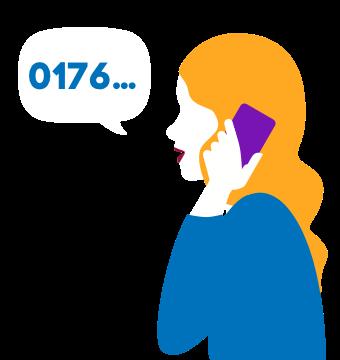 Blau Service: Rufnummernmitnahme