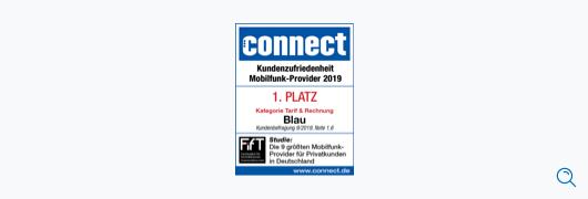 Blau im Test: connect – Kundenzufriedenheit