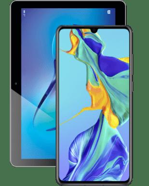 Huawei P30 mit Mediapad T3 10.0