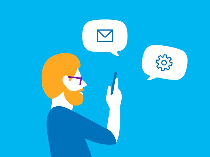 SMS-, MMS,- und E-Mail-Einstellungen