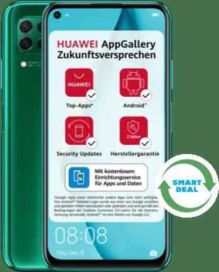 Huawei P40 lite (Neuwertig) mit Blau Allnet Plus