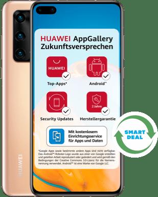 Huawei P40 (Neuwertig) mit Blau Allnet Plus